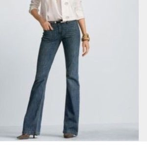 CAbi #178R Low Rise Boot Cut Denim Jeans, Size 6